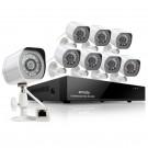 智美达8路sPoE网络视频高清夜视摄像监控套装